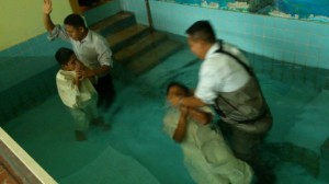 "J. Frank Norris once said:  ""Every problem in the local church can be solved in the baptistry.""  In Tlapa we baptize them two at a time."
