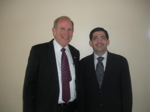 Dr. Marc Mortensen and Rom Ribeiro