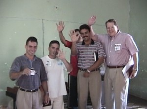 Mike with Cuban pastors.