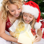 Children shine with joy at Christmas.