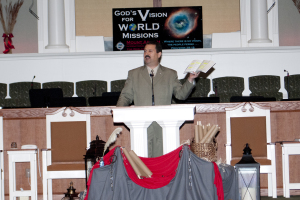Steve preaching in the Mt. Abarim Conference at Worth Baptist.