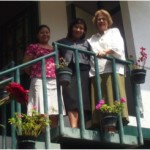 Director's wife and secretaries of the Mt. Abarim Baptist Mission Offices in Cuernavaca.